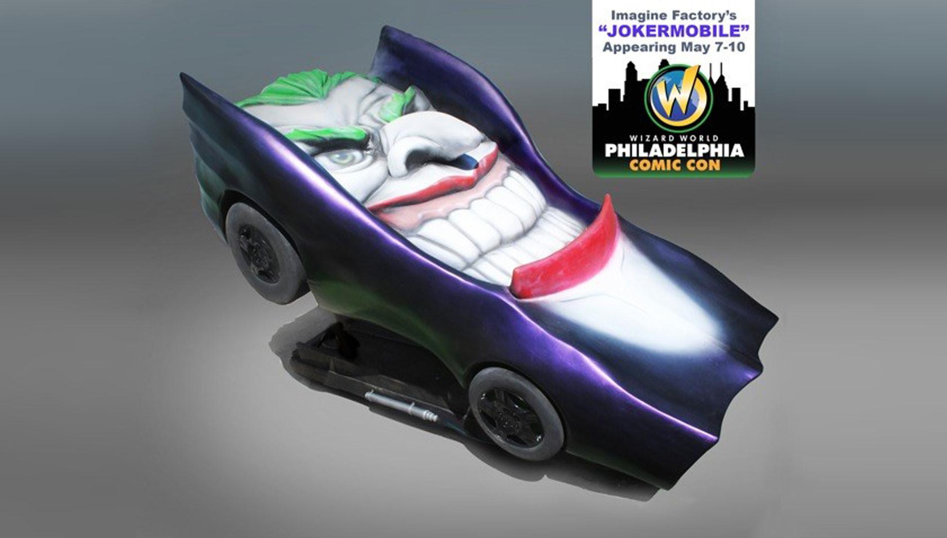 Jokermobile w/ Comic con logo